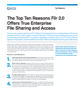 The Top Ten Reasons Filr Offers True Enterprise File Sharing and Access