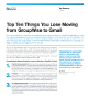 Top Ten Things You Lose Moving from GroupWise to Gmail